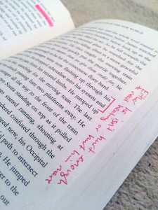 Give your beta readers your book in a format that they can scribble on as they read